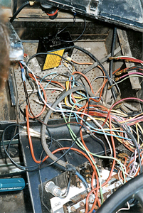 Control panel wires